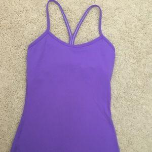 lululemon athletica Power Y Sz 2 Purple